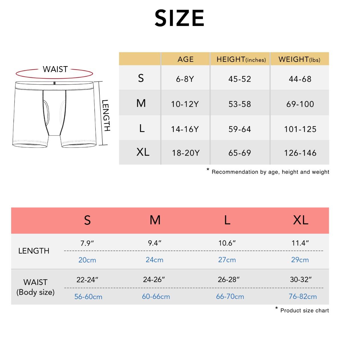 B07 size chart
