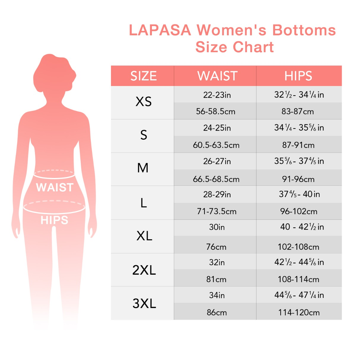 L46 size chart'