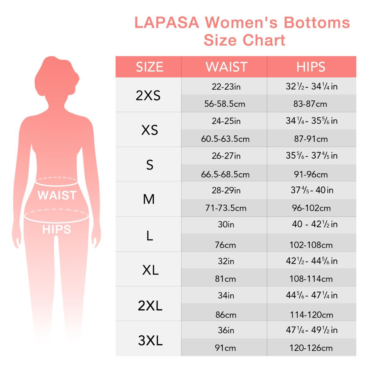 US  women's bottom size chart