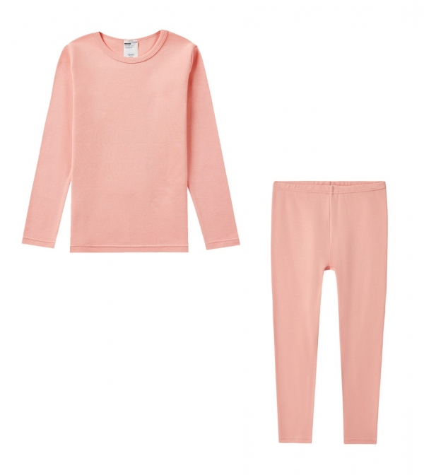 LAPASA Girl's 100% Cotton Hypoallergenic Thermal Set Mid-weight Winter Base Layer Pajamas G09R2