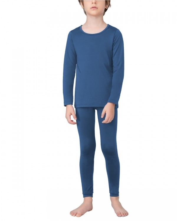 LAPASA Boys Thermal Underwear Long John Set Winter Base Layer Top and Bottom B03A2