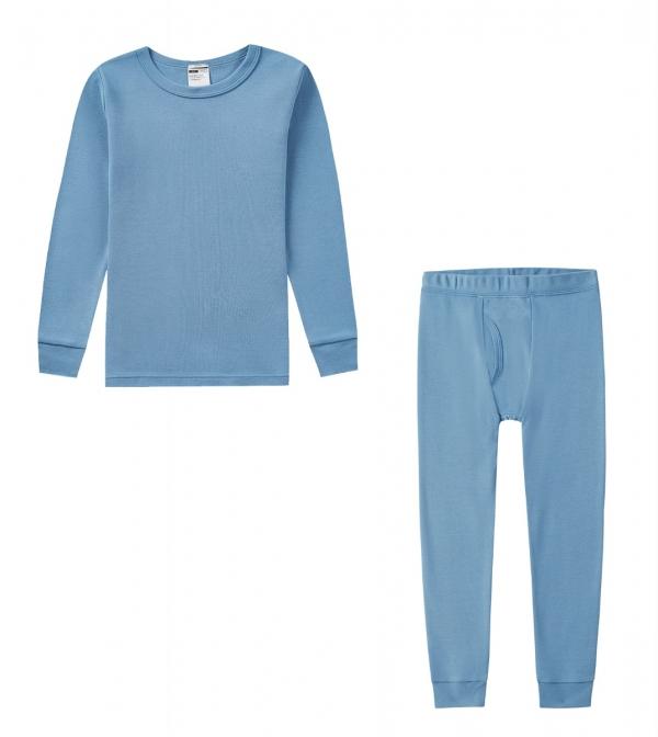 LAPASA Boy's 100% Cotton Hypoallergenic Thermal Set Midweight Winter Base Layer Pajamas B10R2
