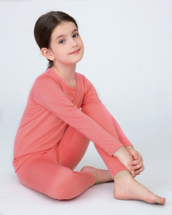 LAPASA Girls Thermal Underwear Long John Set Winter Base Layer Top and Bottom G03A2