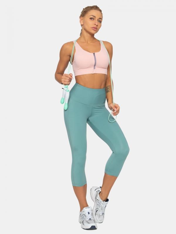 LAPASA High Waist Capri Tummy Control Sports Leggings L02A1