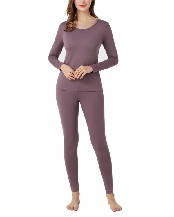 LAPASA Women's Lightweight Thermal Long John Set Breathable Fleece Lined Base Layer L17R2