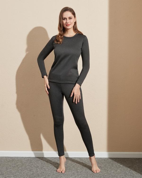 LAPASA Women's Heavyweight Thermal Underwear Set Fleece Lined Base Layer Long Johns L44R2