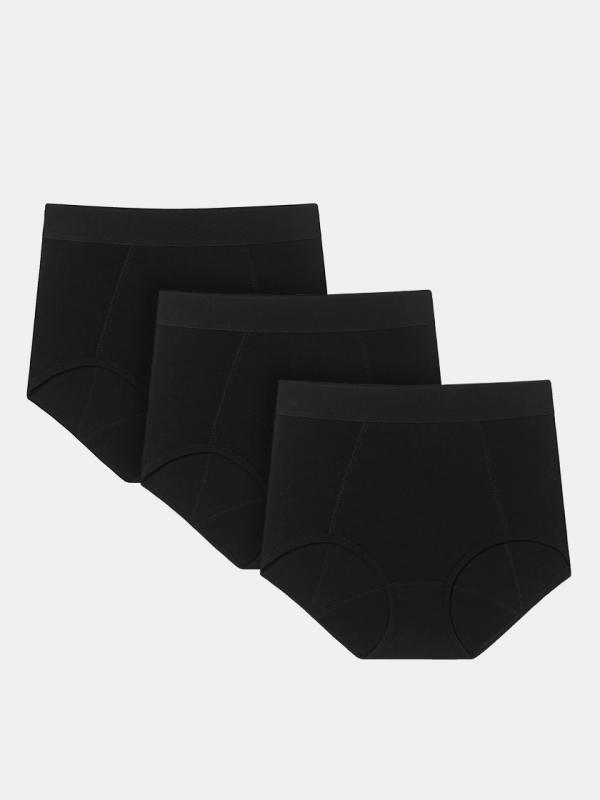 LAPASA (3 pack) Women's Mid-rise Maternity Panties Postpartum Period Underwear L46R3