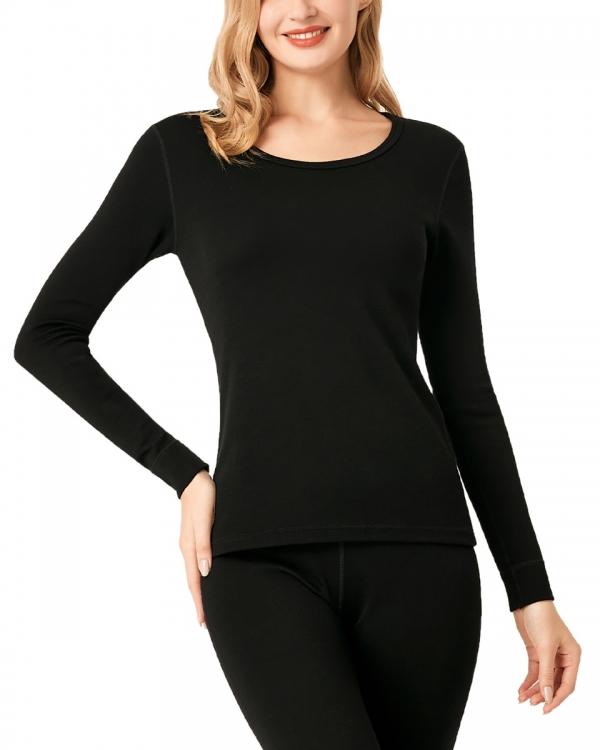 LAPASA Women's 100% Merino Wool Midweight Thermal Top Breathable Long Sleeve Undershirt L48R1