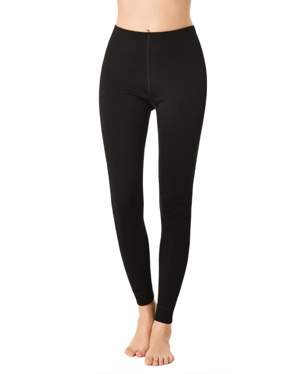 LAPASA Women's 100% Merino Wool Midweight Thermal Leggings Breathable Long John Pants L49R1