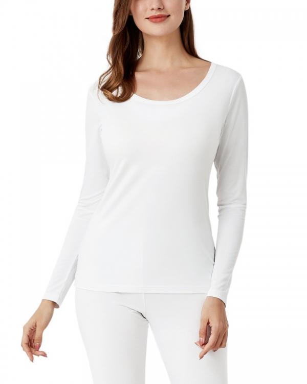 LAPASA Women's Lightweight HeatGen Thermal Top Breathable Crewneck Viscose Long Sleeve Shirt L63R1