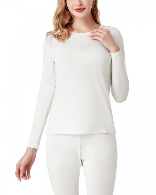 LAPASA Women's Midweight HeatGen Thermal Top Breathable Crewneck Viscose Long Sleeve Shirt L67R1