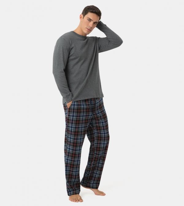 LAPASA Men's 100% Cotton Woven Flannel Pajama Set Plaid PJ Bottoms Have Pockets and Drawstring M79R2
