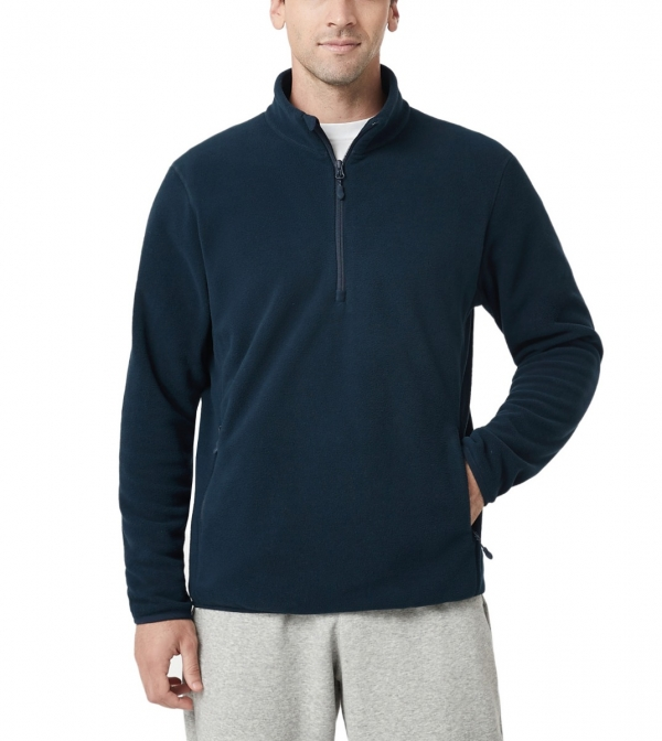 LAPASA Men's Anti-static Polar Fleece 1/4 Zipper Jacket Lightweight Breathable Pilling Resistant Mid-layer M98R1