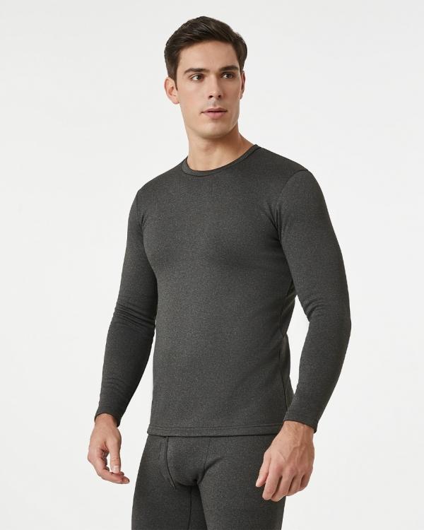 LAPASA Men's Heavyweight Thermal Underwear Top Fleece Lined Base Layer Long Sleeve Shirt M26R1