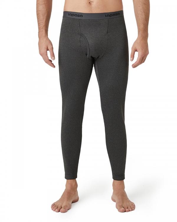 LAPASA Men's Heavyweight Thermal Underwear Pants Fleece Lined Long Johns Leggings Base Layer Bottom M25R1