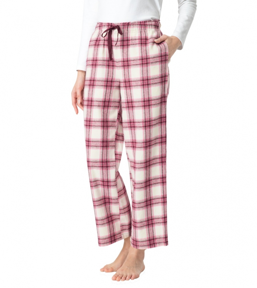 LAPASA Women's Cotton Flannel Lounge Pants Loose Fit  Sleepwear Pajama Trousers L74R1