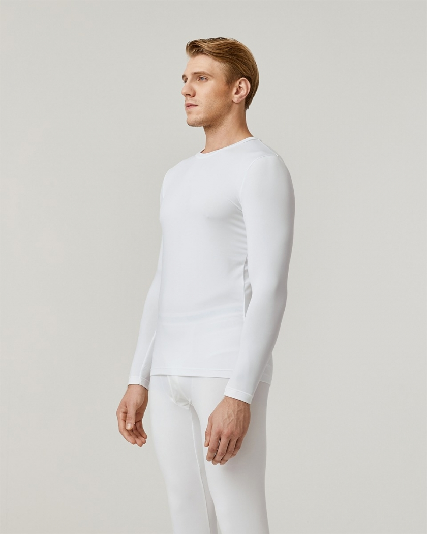 LAPASA (2 Pack) Men's Midweight Thermal Underwear Top Fleece Lined Base Layer Long Sleeve Shirt M55R2