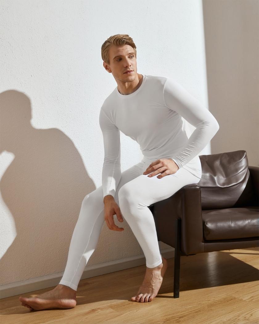 LAPASA (2 Pack) Men's Midweight Thermal Underwear Pants Fleece Lined Base Layer Long John Leggings M56R2