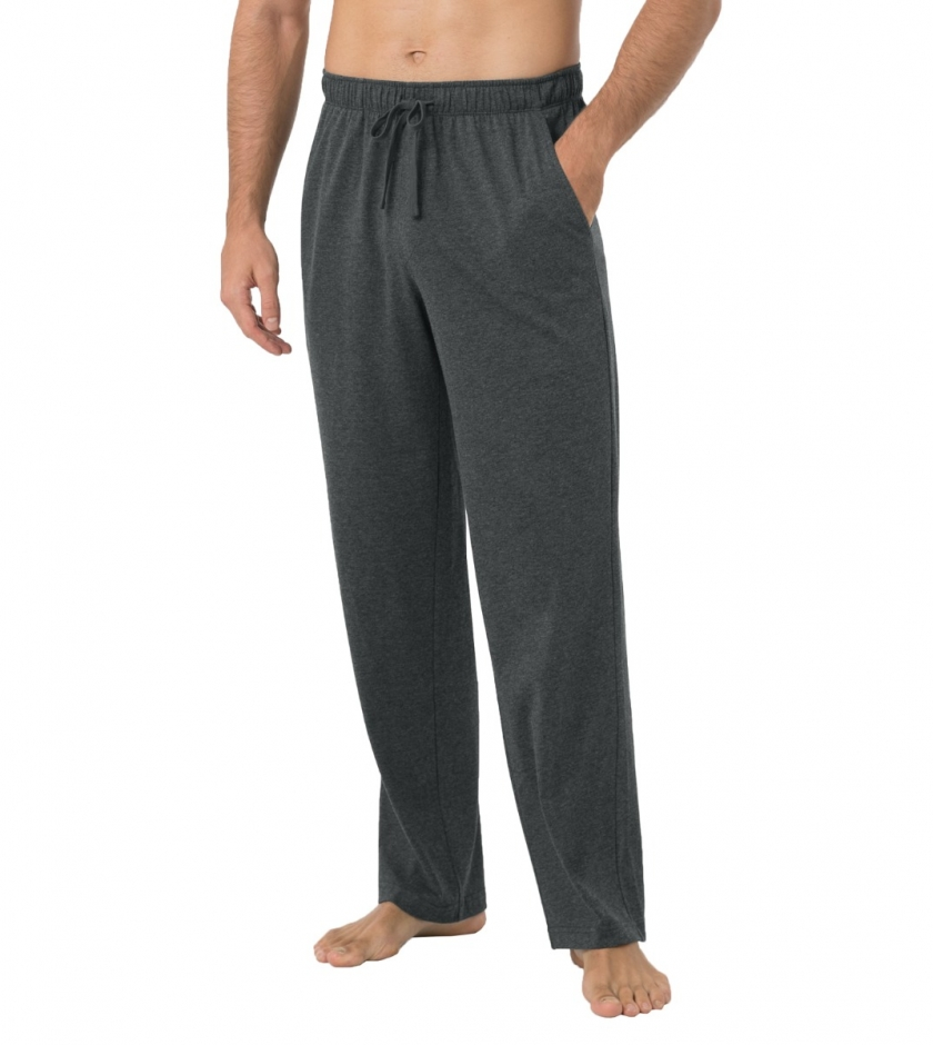 LAPASA Men's Lightweight Relaxed Fit Polycotton Loungewear Pants With Pockets M23A1