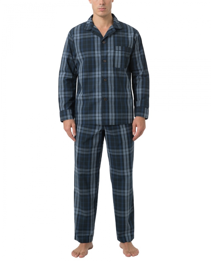 LAPASA Men's Long Sleeve Pajama Woven Set M103R2