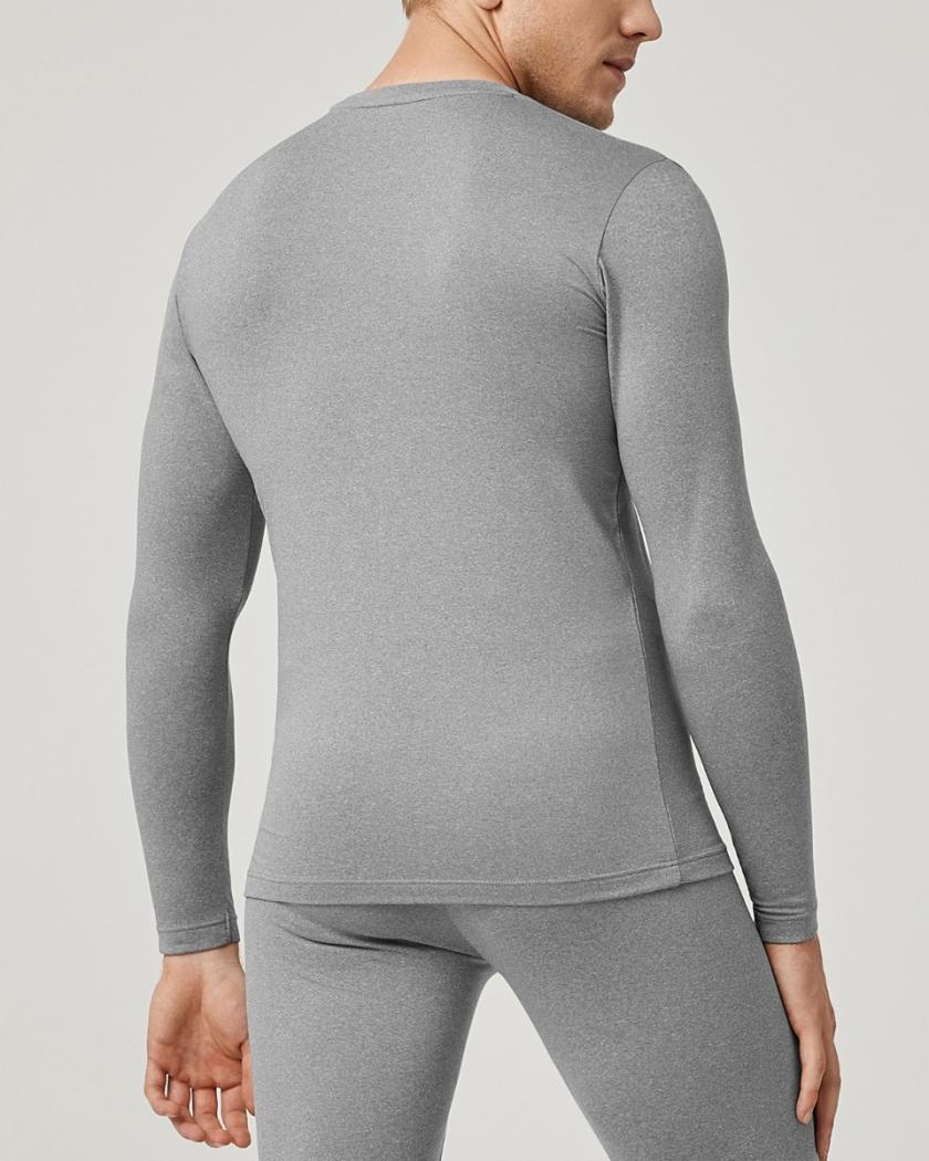 LAPASA (2 Pack) Men's Lightweight Thermal Undershirt Fleece Lined Base Layer Top M09R2