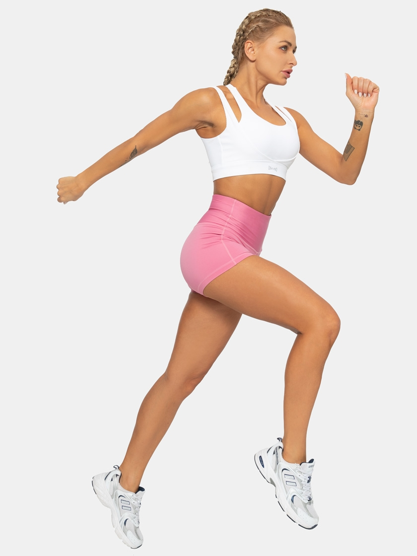 LAPASA Women's Yoga Shorts High Waist Tummy Control Active Workout Bike Shorts  L09A1