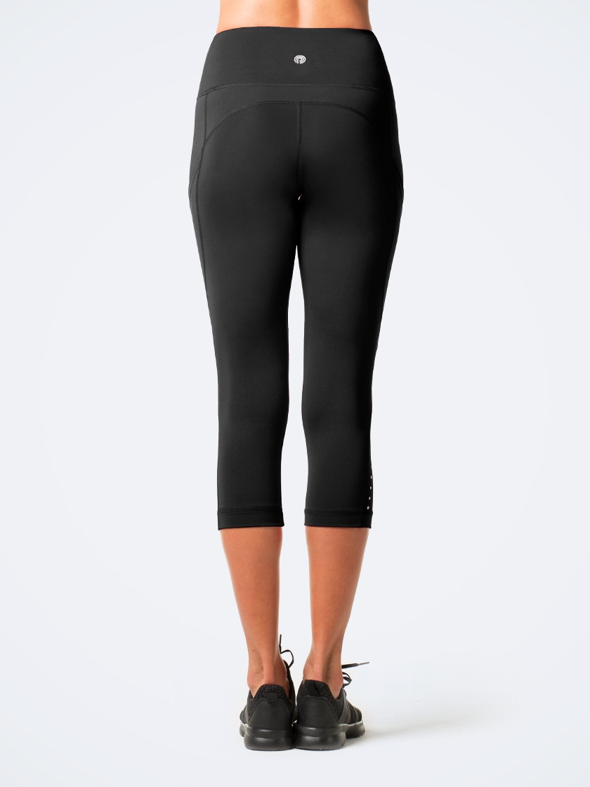 Women's Side Pockets Capri Yoga Pants L33