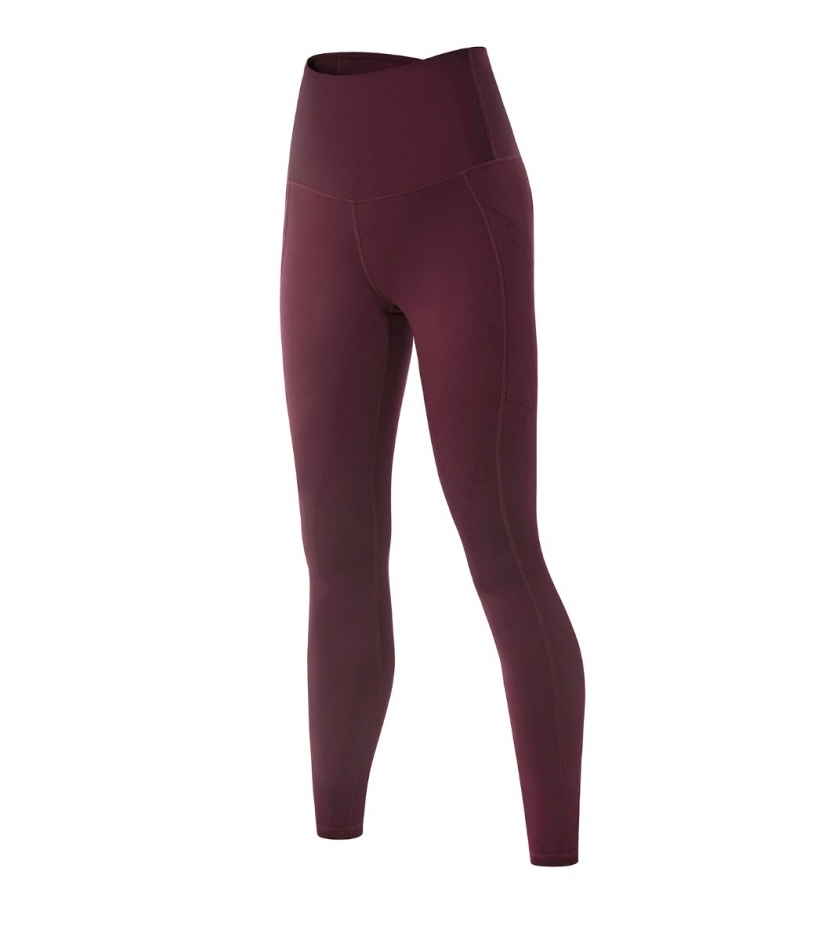 LAPASA Women's High Waist Tummy Control Yoga Leggings With Pockets Cool Weather Workout Running Pants With Side Pockets L36B1