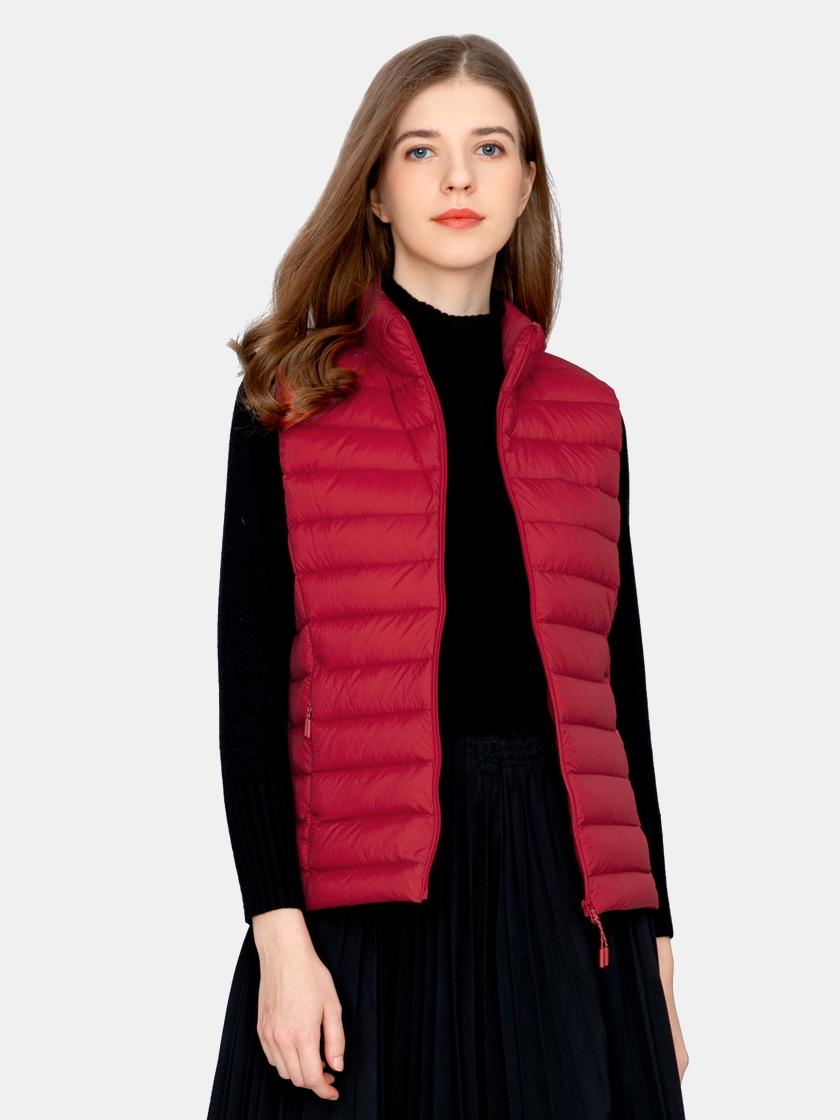 LAPASA Women's Lightweight Water-Resistant Down Vest Packable Stand Collar L62R1