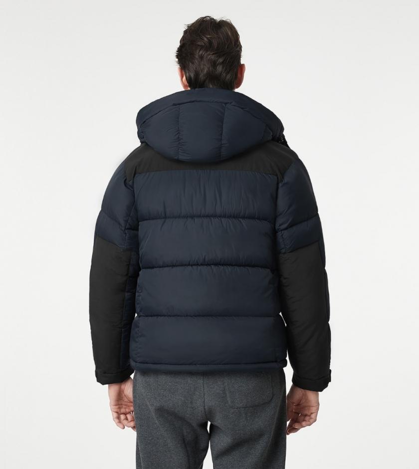LAPASA Men's Heavyweight Hooded Puffer Jacket Water Resistant Nylon Shell & Repreve Fill M105R1