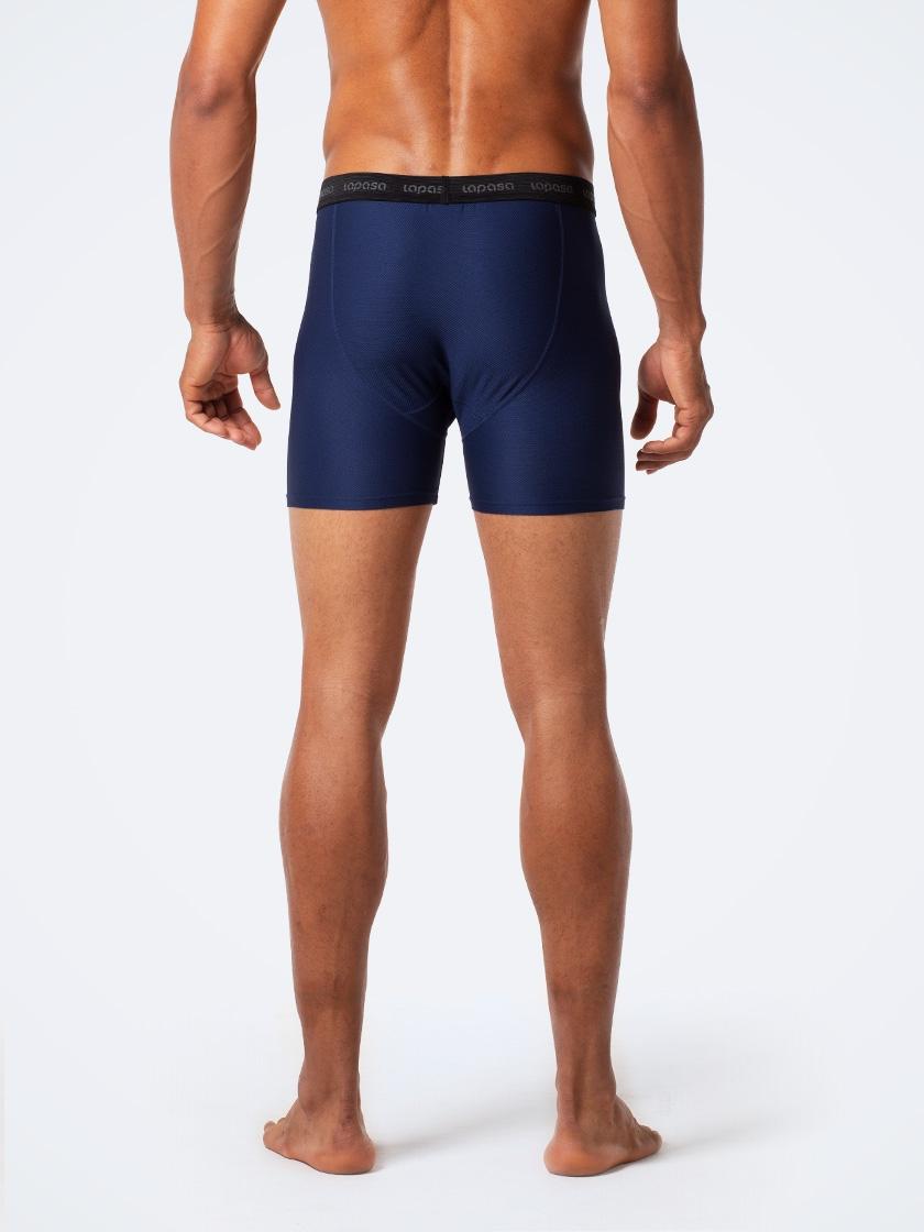 LAPASA (2 Pack) Men's Quick Dry Activewear Boxer Briefs Lightweight Breathable Mesh Travel Trunks M16R2