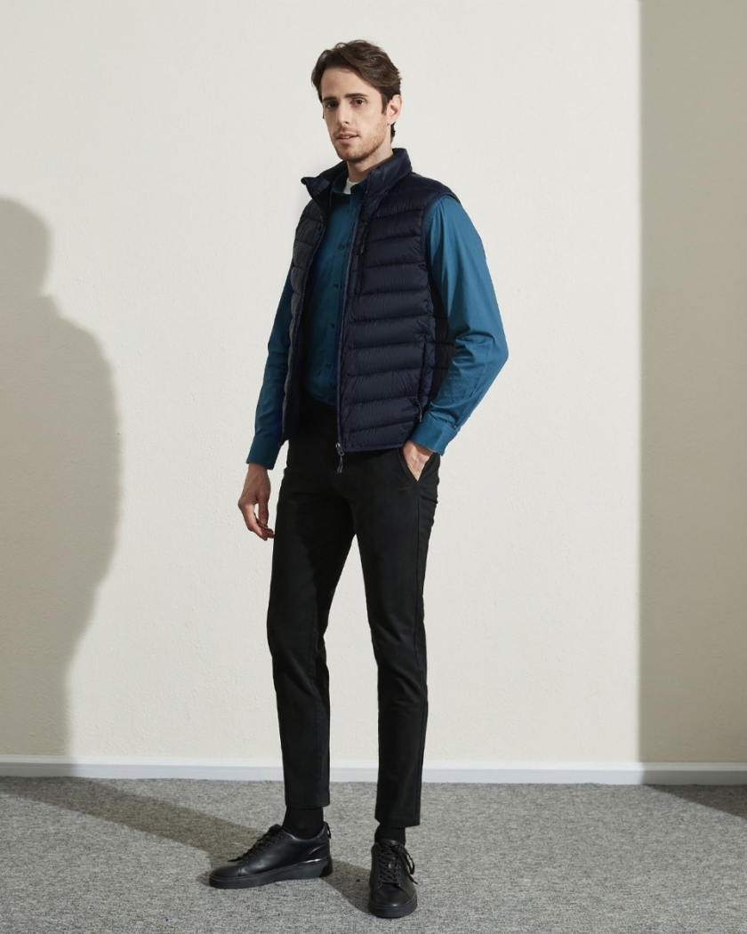 LAPASA Men's Lightweight Water-Resistant Puffer Vest REPREVE® Packable Windproof M70R1