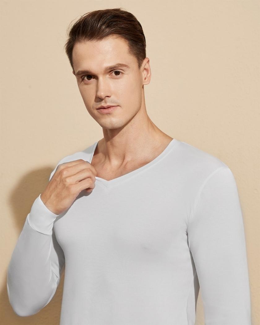 LAPASA Men's HeatGen Lightweight V-neck Thermal Underwear Set Base Layer Top & Bottom M76A2