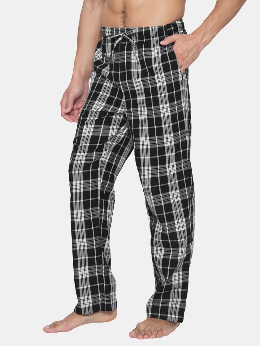 LAPASA Men's 100% Cotton Woven Pajama Lounge Sleep Pants with Drawstring M38A1