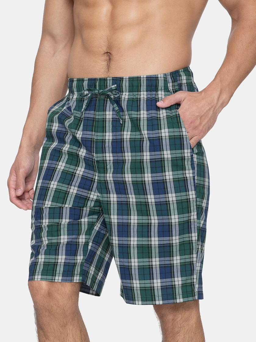 LAPASA 2 Pack Men's Plaid 100% Cotton Lounge Shorts Relaxed Fit Madras Shorts M92R2
