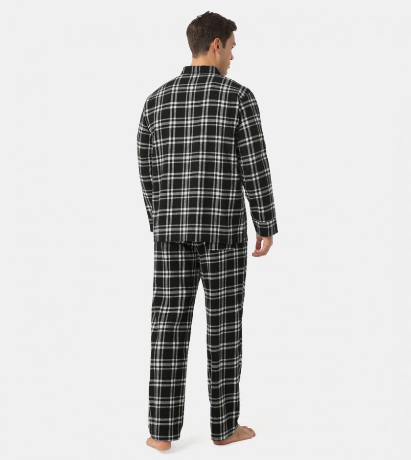 LAPASA Men's 100% Cotton Flannel Pajama Set Lightweight Pajamas Top & Bottom M95R2